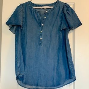 Lightweight chambray top from Loft
